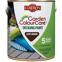 Liberon 110107 Garden Colour Care Decking Paint Light Brown 2.5 litre