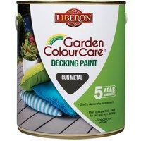 Liberon 110111 Garden Colour Care Decking Paint Gun Metal 2.5 litre