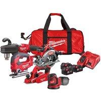 Milwaukee 4933472100 M18 FPP5L FUEL™ Woodworking Kit 18V 3 x 5.0Ah...