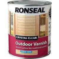 Ronseal 37365 Crystal Clear Outdoor Varnish Satin 750ml