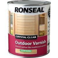 Ronseal 37369 Crystal Clear Outdoor Varnish Matt 2.5 litre
