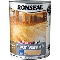 Ronseal 33608 Diamond Hard Floor Varnish Satin 5 litre