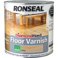 Ronseal 37539 Diamond Hard Floor Varnish Matt 2.5 litre
