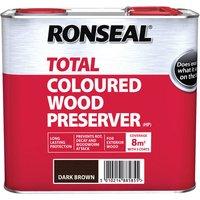 Ronseal 38585 Trade Total Wood Preserver Dark Brown 2.5 litre