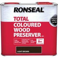 Ronseal 38587 Trade Total Wood Preserver Light Brown 2.5 litre