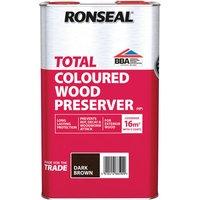Ronseal 38590 Trade Total Wood Preserver Dark Brown 5 litre