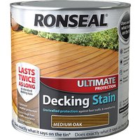 Ronseal 36905 Ultimate Protection Decking Stain Medium Oak 2.5 litre
