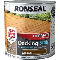 Ronseal 36906 Ultimate Protection Decking Stain Dark Oak 2.5 litre