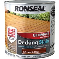 Ronseal 36909 Ultimate Protection Decking Stain Rich Mahogany 2.5 ...