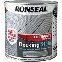 Ronseal 36911 Ultimate Protection Decking Stain Stone Grey 2.5 litre