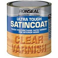 Ronseal 09009 Ultra Tough Internal Clear Satincoat Varnish 250ml