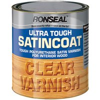Ronseal 09055 Ultra Tough Internal Clear Satincoat Varnish 750ml