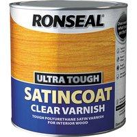Ronseal 34761 Ultra Tough Internal Clear Satincoat Varnish 2.5 litre