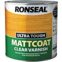 Ronseal 34763 Ultra Tough Mattcoat Internal Clear Varnish 2.5 litre
