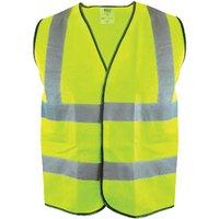 Scan OC-166-XXL Hi-Vis Yellow Waistcoat - XXL (52in)
