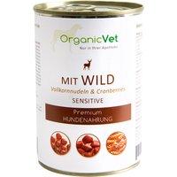 OrganicVet Hund Nassfutter Sensitive Wild mit Vollkornnudeln & Cranberries