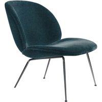 Beetle Padded Lounge Chair With Conic Base, GamFratesi, 2013, Black/Velvet