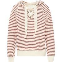 Striped Tie Hoodie Sweatshirt
