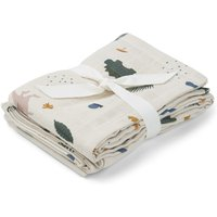 Hannah Dino Organic Cotton Muslin Cloths - Set of 2