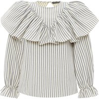 Frill Striped Blouse