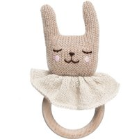 Bunny wooden rattle