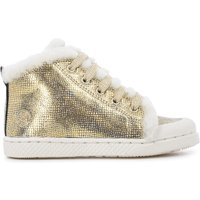 Ter Furry Laced Leather Trainers