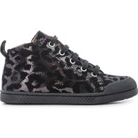 Fit Lace Leopard High Top Leather Trainers