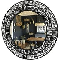 Mirror in raffia
