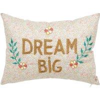 Dream Big Liberty Print Embroidered Cushion - CSAO x Smallable