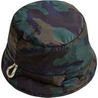 Hani Camouflage Faux Fur Line Reversible Bucket Hat