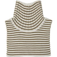 'Striped Wool Turtleneck Collar