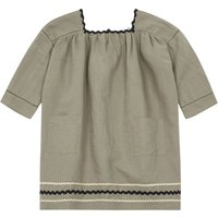 Hyacinth linen and cotton dress