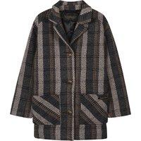 Christy Check Oversized Coat