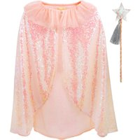 Sequin cloak and magical wand