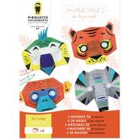 Jungle Colour-in Masks