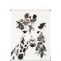 Giraffe Embroidered Poster