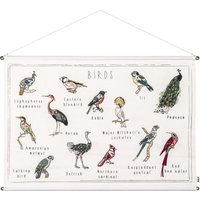 Birds Embroidered Poster