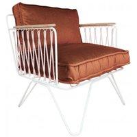 Croisette White Epoxy and Velvet Armchair