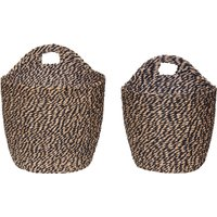 Braided Paper Baskets - Set of 2