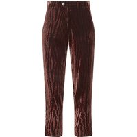Janet Bark-Print Trousers