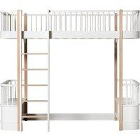 Wood Oak Loft Bed 90 x 200 cm