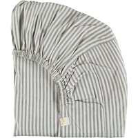 Striped Cotton Fitted Sheet