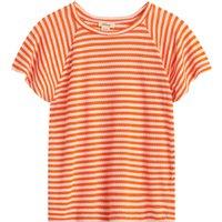 Chili openwork striped t-shirt