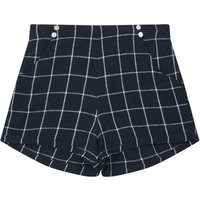 Checkered linen shorts - La Petite Collection x Smallable exclusive