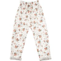 Floral Linen and Cotton Trousers