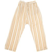 Striped Cotton and Linen Trousers