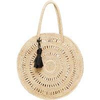 Circle Medium Raffia Bag