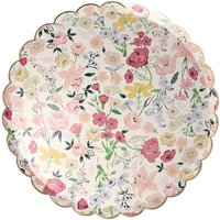 English Garden Cardboard Plates - Set of 8