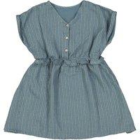 Louise lurex cotton gauze dress