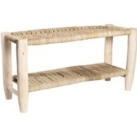 Double Woven Palm Bench